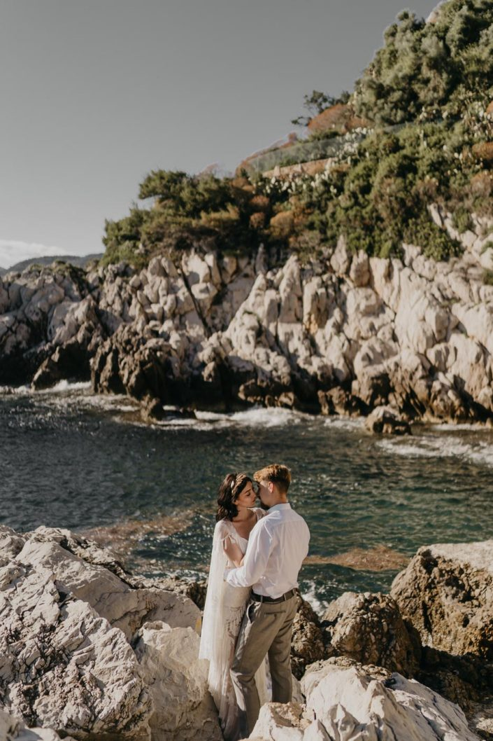 Séance de Couple sur la Côte d'Azur - Saint Jean Cap Ferrat - Martine Toledano, robe Rue de Seine