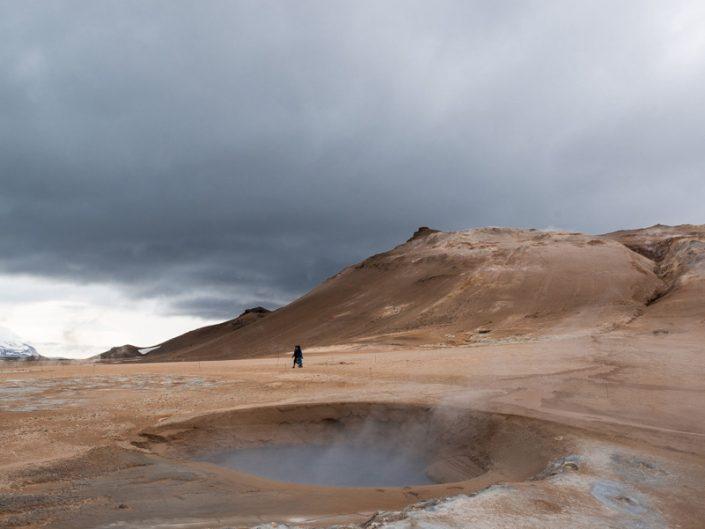 Hverir volcans désert