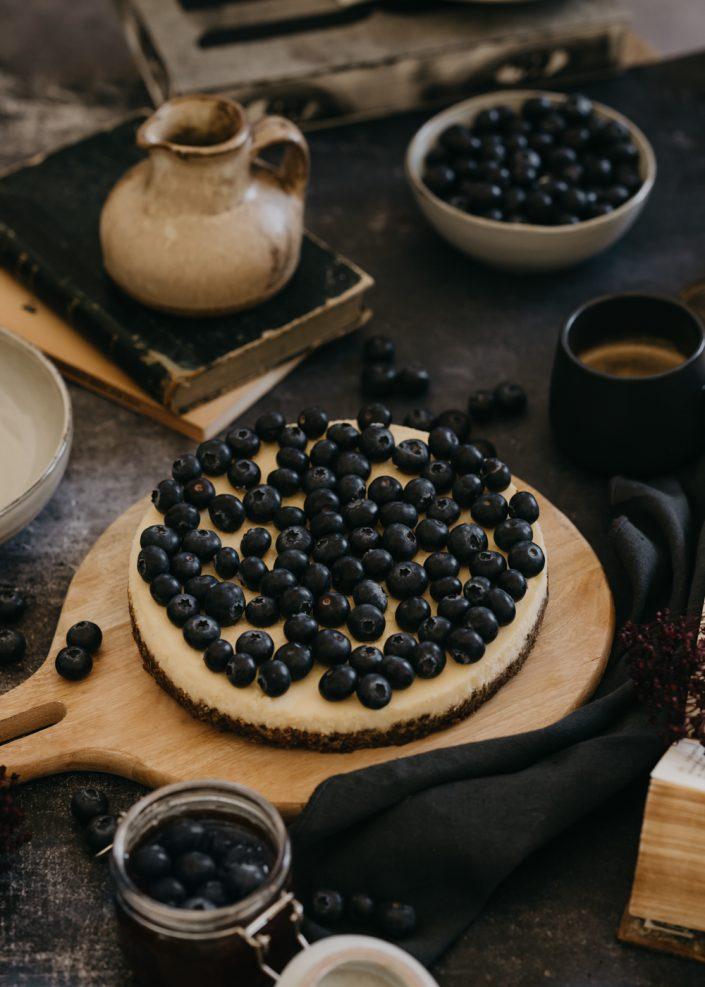 Photographe Culinaire - à Metz, Lorraine et Luxembourg - Cheesecake aux Myrtilles