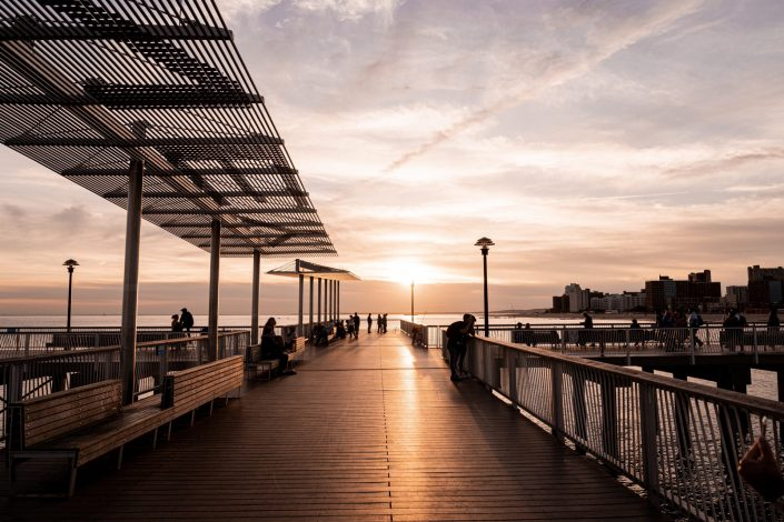 Coney Island New York Coucher de soleil