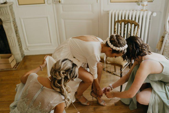 Photographe de Mariage au Château d'Hattonchâtel - Préparatifs de la Mariée - Chaussures