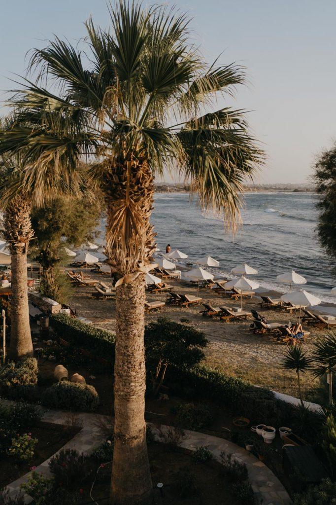 Voyage en Grèce - La vue depuis le bacon de notre studio à Naxos