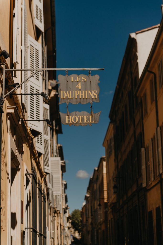 Aix-en-Provence- notre hôtel : les 4 dauphins
