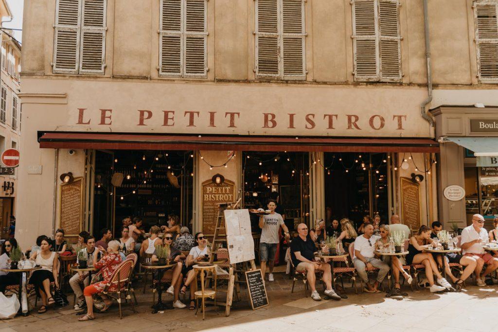 Aix-en-Provence- Repas au petit bistrot