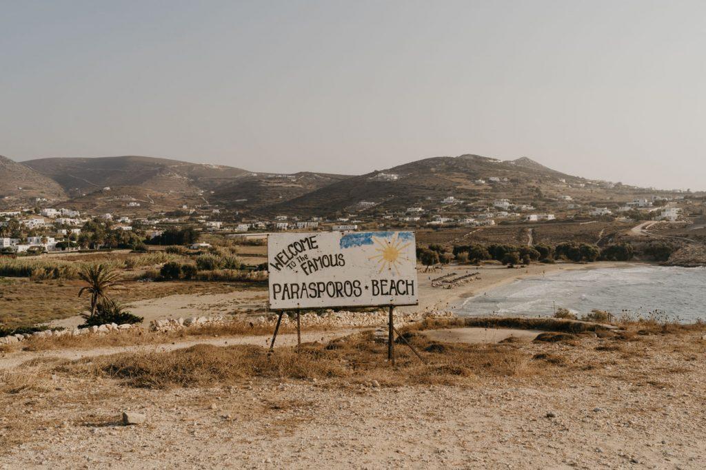 Plage de Parasporos à Paros
