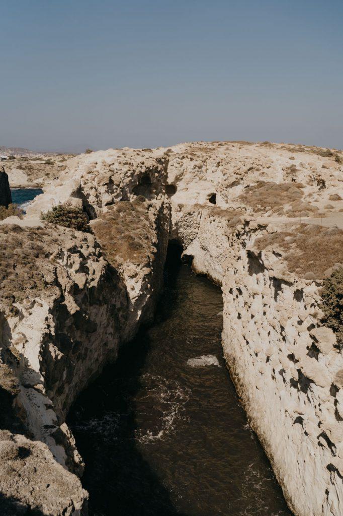 Plage de Papafragas à Milos
