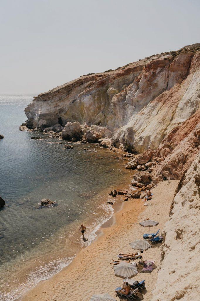 Plage de Paliochori à Milos