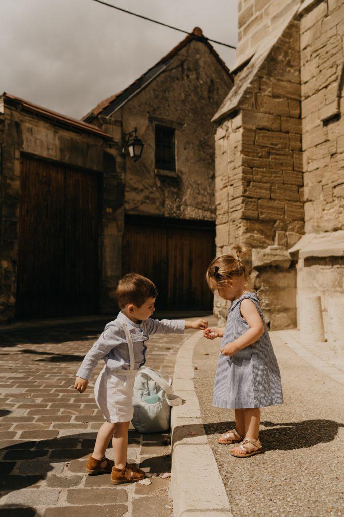Sortie d'église - Mariage au château de la Trye